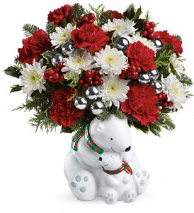 Teleflora's Send a Hug Cuddle Bears Bouquet in Tustin CA, Saddleback Flower Shop