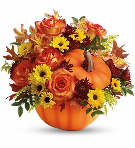 Teleflora's Warm Fall Wishes Bouquet in Warren RI, Victoria's Flowers