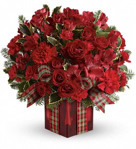 Season's Surprise Bouquet by Teleflora in Rochester NY, Red Rose Florist & Gift Shop