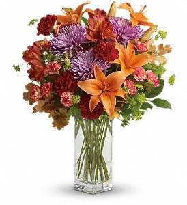 Teleflora's Fall Brights Bouquet in Bakersfield CA, White Oaks Florist