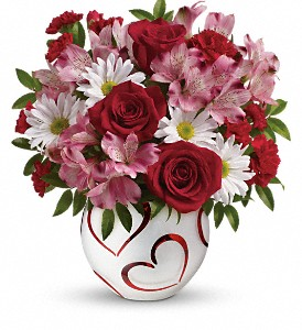 Teleflora's Happy Hearts Bouquet in Oak Hill WV, Bessie's Floral Designs Inc.