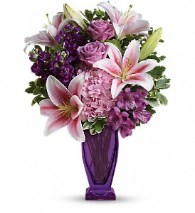 Teleflora's Blushing Violet Bouquet in Eugene OR, Rhythm & Blooms