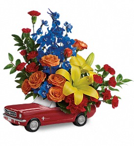 Living The Dream '65 Ford Mustang by Teleflora in Canton NC, Polly's Florist & Gifts
