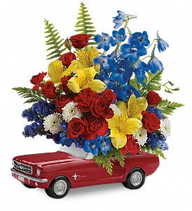 Teleflora's '65 Ford Mustang Bouquet in Bloomington IL, Beck's Family Florist