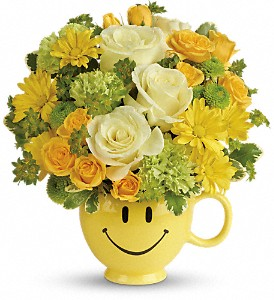 Teleflora's You Make Me Smile Bouquet in Philadelphia PA, Flower & Balloon Boutique