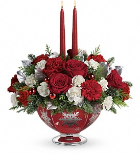 Teleflora's Silver And Joy Centerpiece in Oklahoma City OK, Array of Flowers & Gifts