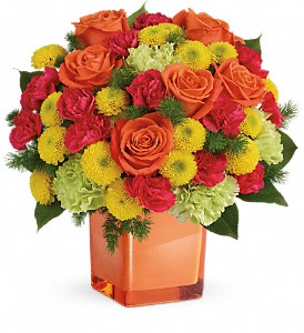 Teleflora's Citrus Smiles Bouquet in Claremore OK, Floral Creations
