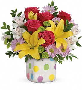Teleflora's Delightful Dots Bouquet in Webster TX, NASA Flowers