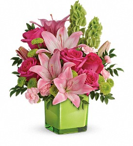 Teleflora's In Love With Lime Bouquet in Oklahoma City OK, Howard Brothers Florist