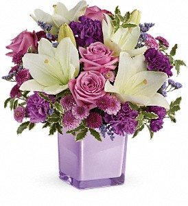 Teleflora's Pleasing Purple Bouquet in Cooperstown NY, Mohican Flowers