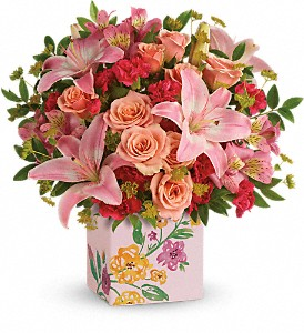 Teleflora's Brushed With Blossoms Bouquet in Woodbridge NJ, Floral Expressions
