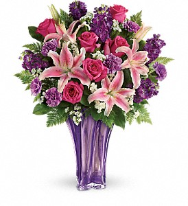 Teleflora's Luxurious Lavender Bouquet in Portland ME, Dodge The Florist