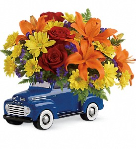 Vintage Ford Pickup Bouquet by Teleflora in Warwick RI, Yard Works Floral, Gift & Garden