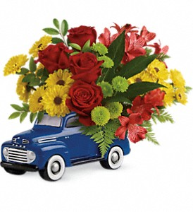 Glory Days Ford Pickup by Teleflora in Fredericksburg TX, Blumenhandler Florist