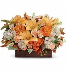 Teleflora's Fall Chic Bouquet in Oklahoma City OK, Array of Flowers & Gifts