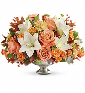 Teleflora's Harvest Shimmer Centerpiece in Brandon MB, Carolyn's Floral Designs