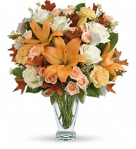 Teleflora's Seasonal Sophistication Bouquet in Meadville PA, Cobblestone Cottage and Gardens LLC