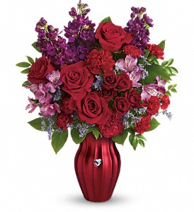 Teleflora's Shining Heart Bouquet in Rochester NY, Red Rose Florist & Gift Shop