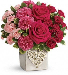 Teleflora's Swirling Heart Bouquet in Baltimore MD, Drayer's Florist Baltimore