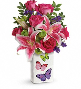 Teleflora's Brilliant Butterflies Bouquet in Royersford PA, Three Peas In A Pod Florist
