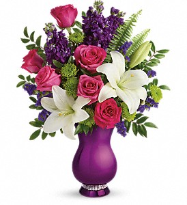 Teleflora's Sparkle And Shine Bouquet in Lemont IL, Royal Petal