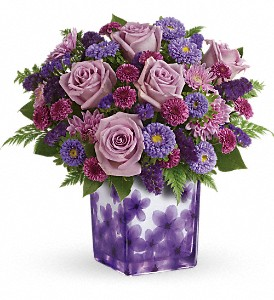 Teleflora's Happy Violets Bouquet in St. Charles MO, The Flower Stop