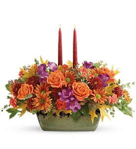 Teleflora's Country Sunrise Centerpiece in Warwick RI, Yard Works Floral, Gift & Garden