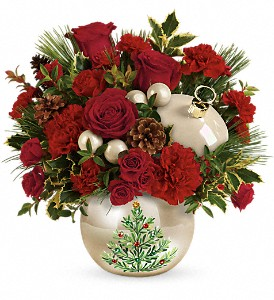 Teleflora's Classic Pearl Ornament Bouquet in Calgary AB, All Flowers and Gifts