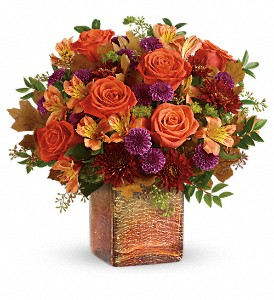 Teleflora's Golden Amber Bouquet in Logan UT, Plant Peddler Floral