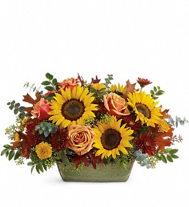 Teleflora's Sunflower Farm Centerpiece in Chico CA, Flowers By Rachelle