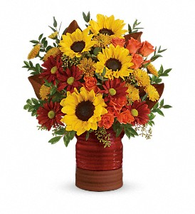 Teleflora's Sunshine Crock Bouquet in Fredonia NY, Fresh & Fancy Flowers & Gifts