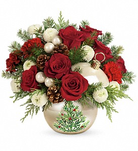Teleflora's Twinkling Ornament Bouquet in Liverpool NY, Creative Florist