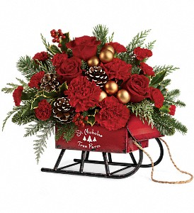 Teleflora's Vintage Sleigh Bouquet in Calgary AB, All Flowers and Gifts