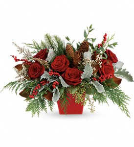 Winter Blooms Centerpiece in Bakersfield CA, White Oaks Florist