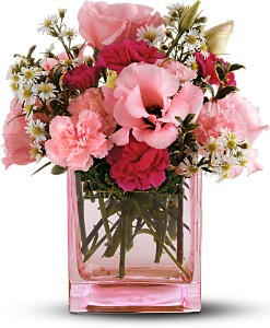 Teleflora's Pink Dawn Bouquet in Laurel MD, Rainbow Florist & Delectables, Inc.
