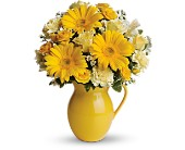 Teleflora's Sunny Day Pitcher of Cheer in Shelton WA, Lynch Creek Floral