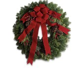 Classic Holiday Wreath in Fort Worth TX, TCU Florist