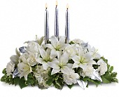 Silver Elegance Centerpiece in Baltimore MD, Lord Baltimore Florist