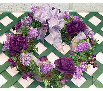 WREATH32 ''Artificial Floral Wreath'' in Oklahoma City OK, Array of Flowers & Gifts