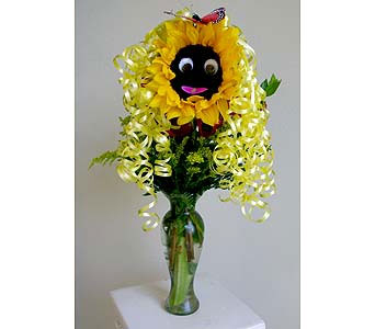 TCU FLORIST Funny Face Sunflowers (Local Delivery Only) in Fort Worth TX, TCU Florist