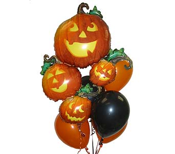 HBB12 ''Trick or Treat'' Balloon Bouquet in Oklahoma City OK, Array of Flowers & Gifts