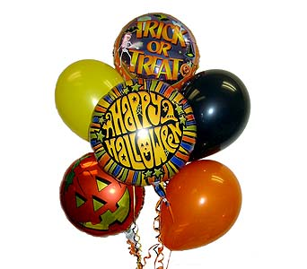 HBB29 ''Happy Halloween'' Balloon Bouquet in Oklahoma City OK, Array of Flowers & Gifts