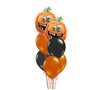 HBB34 ''Halloween Thrills'' Balloon Bouquet in Oklahoma City OK, Array of Flowers & Gifts