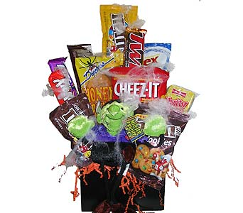 HJF75 Franken-Snack (junk food bouquet) in Oklahoma City OK, Array of Flowers & Gifts