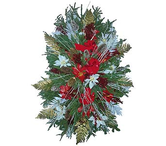 Christmas Spray-Blanket in Brooklyn NY, David Shannon Florist & Nursery