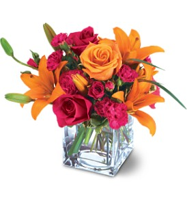 Teleflora's Uniquely Chic Bouquet in Woburn MA, Malvy's Flower & Gifts