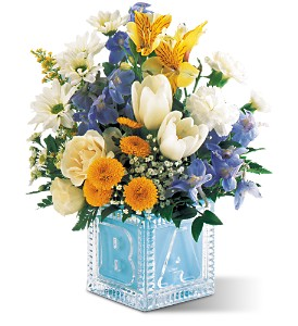 Teleflora's Baby Block (Boy) in Mooresville NC, All Occasions Florist & Boutique