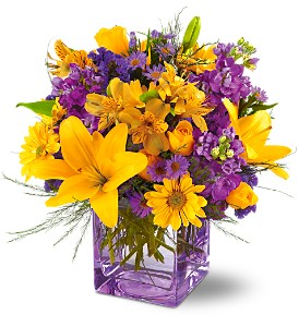 Teleflora's Morning Sunrise Bouquet in Houston TX, Village Greenery & Flowers