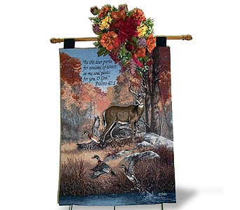 Deer Tapestry with Silks in Nashville TN, Flowers By Louis Hody