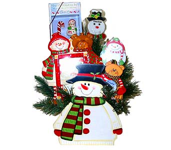 HGB-2467 ''Snowman Wonderland'' in Oklahoma City OK, Array of Flowers & Gifts
